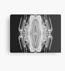 Squared Spider Metal Print