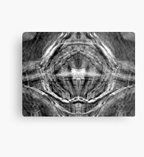 Pixels in Stone Metal Print