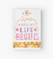 Tangled Typography When Will My Life Begin Hardcover Journal