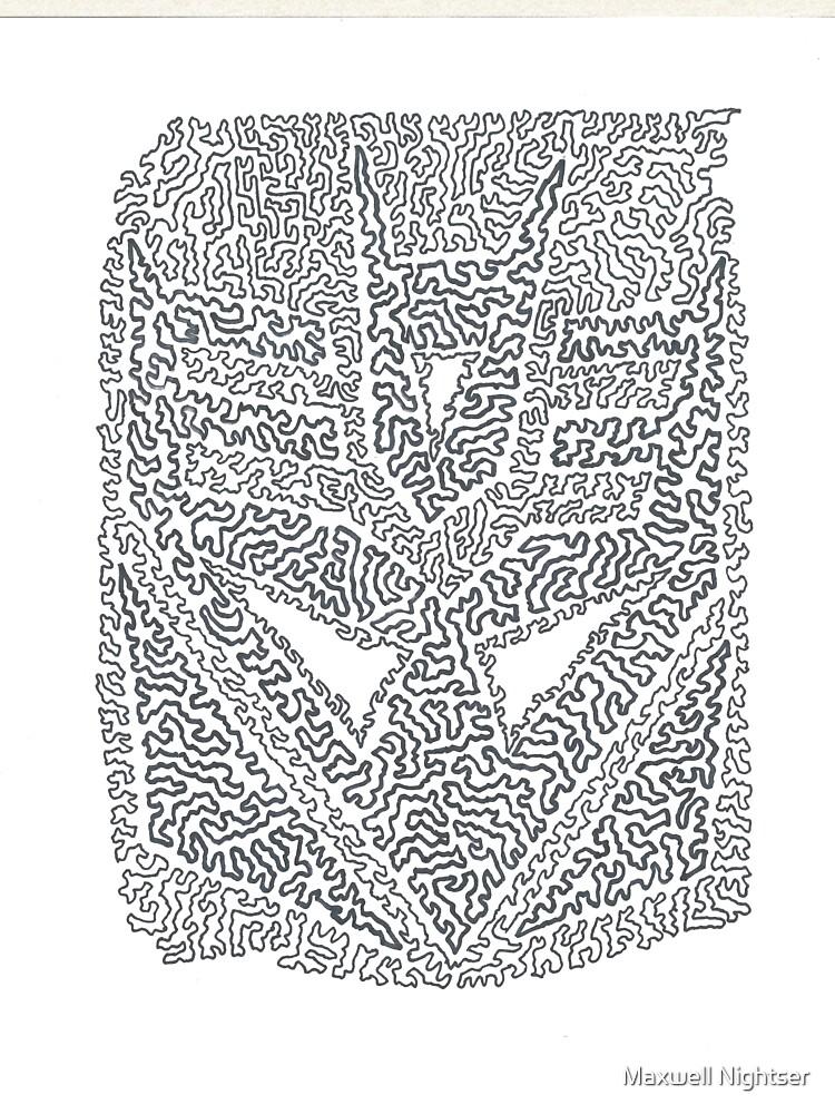 Black & White Decepticon Crest - TF  by MaxwellAbstract