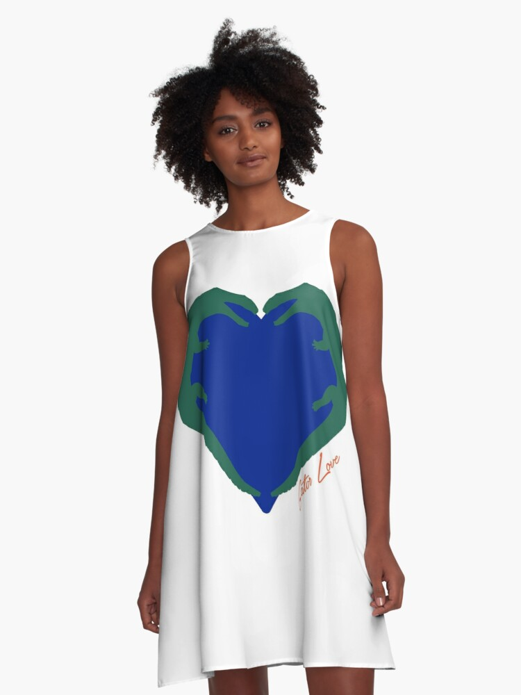 Gator Love A-Line Dress Front