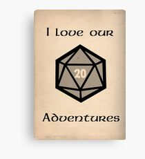 I love our adventures Canvas Print