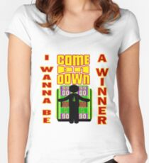 TV Game Show - TPIR (The Price Is...) I Wanna Be A Winner Women's Fitted Scoop T-Shirt