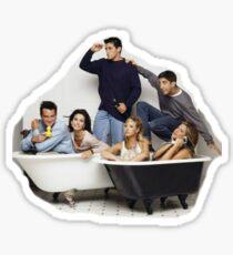 friends bathtub Sticker
