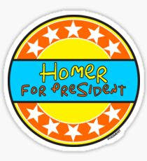 HOMER FOR PRESIDENT Sticker