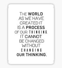 Einstein's quote Sticker