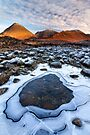 Sligachan. Red Hills in Winter. Isle of Skye. Scotland. by PhotosEcosse