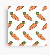 carrot doodle pattern Canvas Print