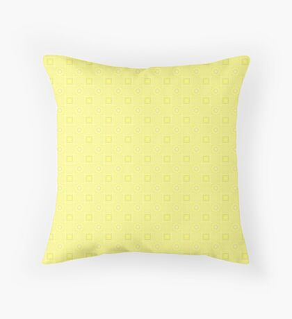 Pale Yellow Design by Julie Evehart Throw Pillow