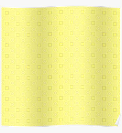 Pale Yellow Design by Julie Evehart Poster