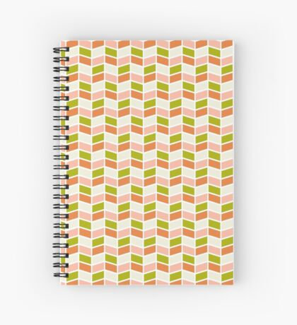 Valentine's Day | Herringbone Pattern Spiral Notebook