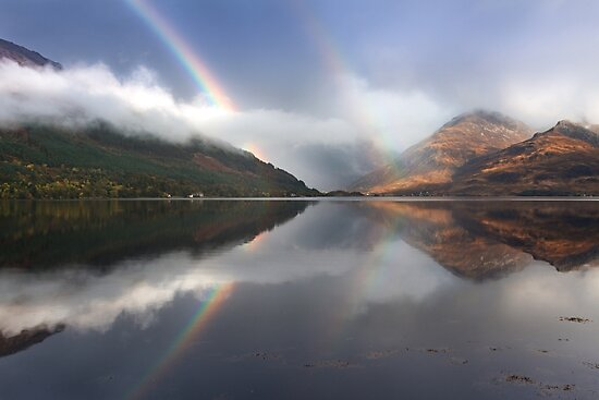 Mountains,mist and rainbows. Loch Duich. North West Highlands. Scotland. by PhotosEcosse
