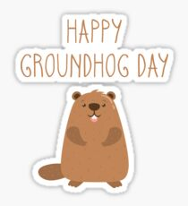 2017 Happy Groundhog Day Sticker