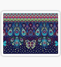 Midnight butterflies - Bohemian pattern by Cecca Designs Sticker