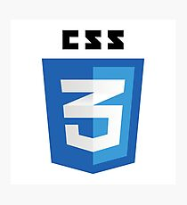 CSS 3 - Cascading Stylesheets 3 Photographic Print