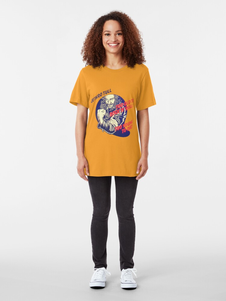 Alternate view of Jethro Tull Too Old to Rock and Roll: Too Young to Die Slim Fit T-Shirt