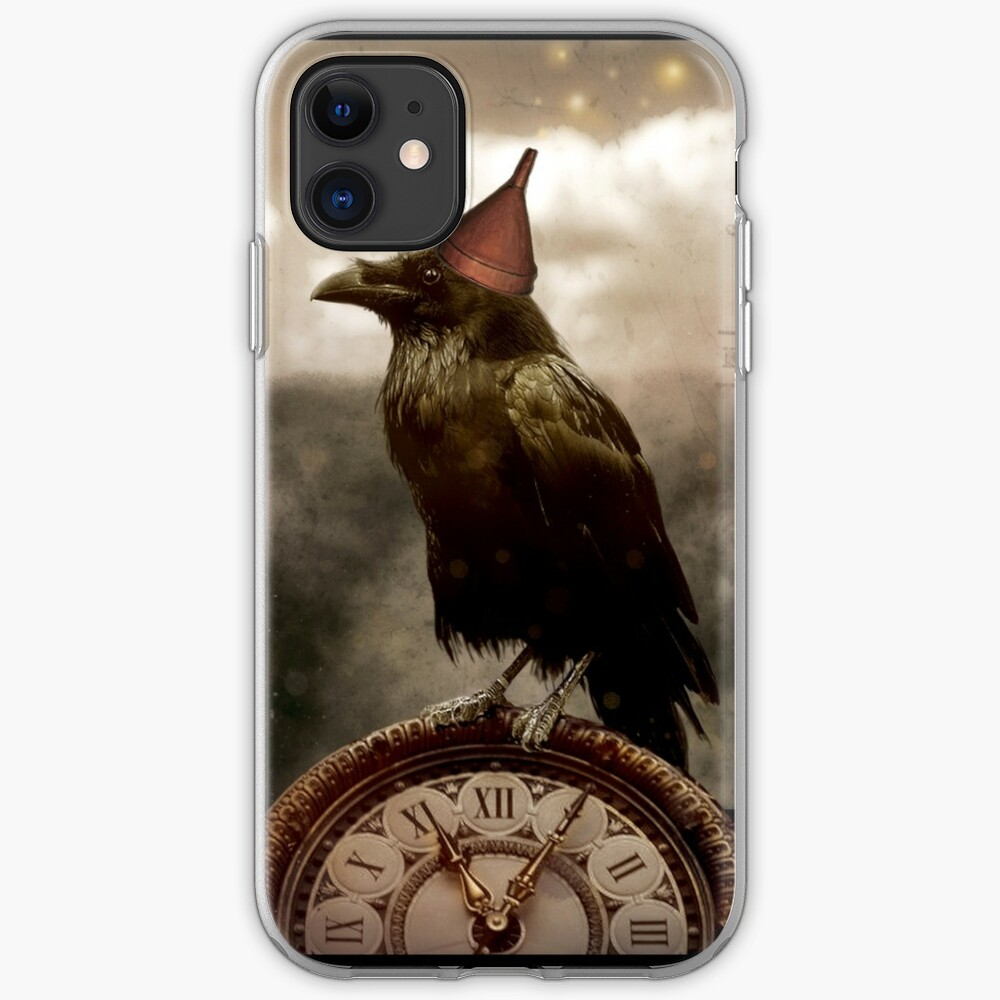 New Year's Raven iPhone Soft Case