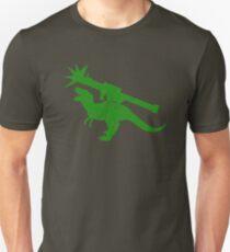 Cute green Tyrannosaurus TREX with a rocket launcher T-Shirt
