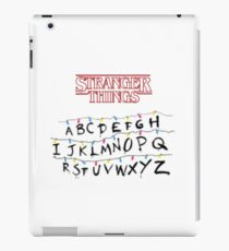 stranger things tv series iPad Case/Skin