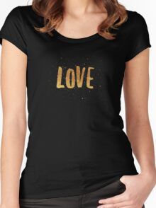 LOVE stickers Women's Fitted Scoop T-Shirt