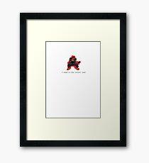 Super emergency Framed Print