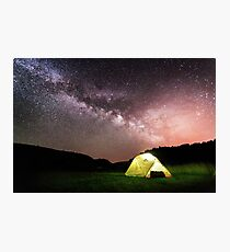 Wild Camping under the Milky Way in Uvav Canyon, Serbia Photographic Print