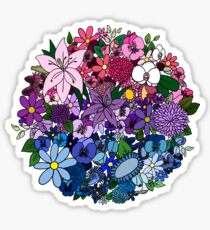 Bi Pride Flowers Sticker