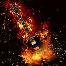 Burning guitar Items by SweediesArt