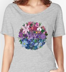 Bi Pride Flowers Women's Relaxed Fit T-Shirt