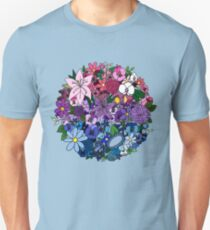 Bi Pride Flowers Unisex T-Shirt