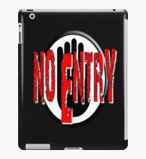NO ENTRY iPad Case/Skin