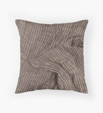 Piece of cotton fabric with creases and crumpled Throw Pillow