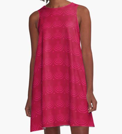 Magenta Red A-Line Dress
