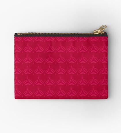 Magenta Red Zipper Pouch