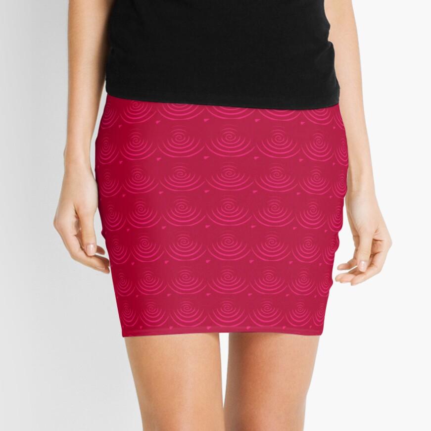 Magenta Red Mini Skirt