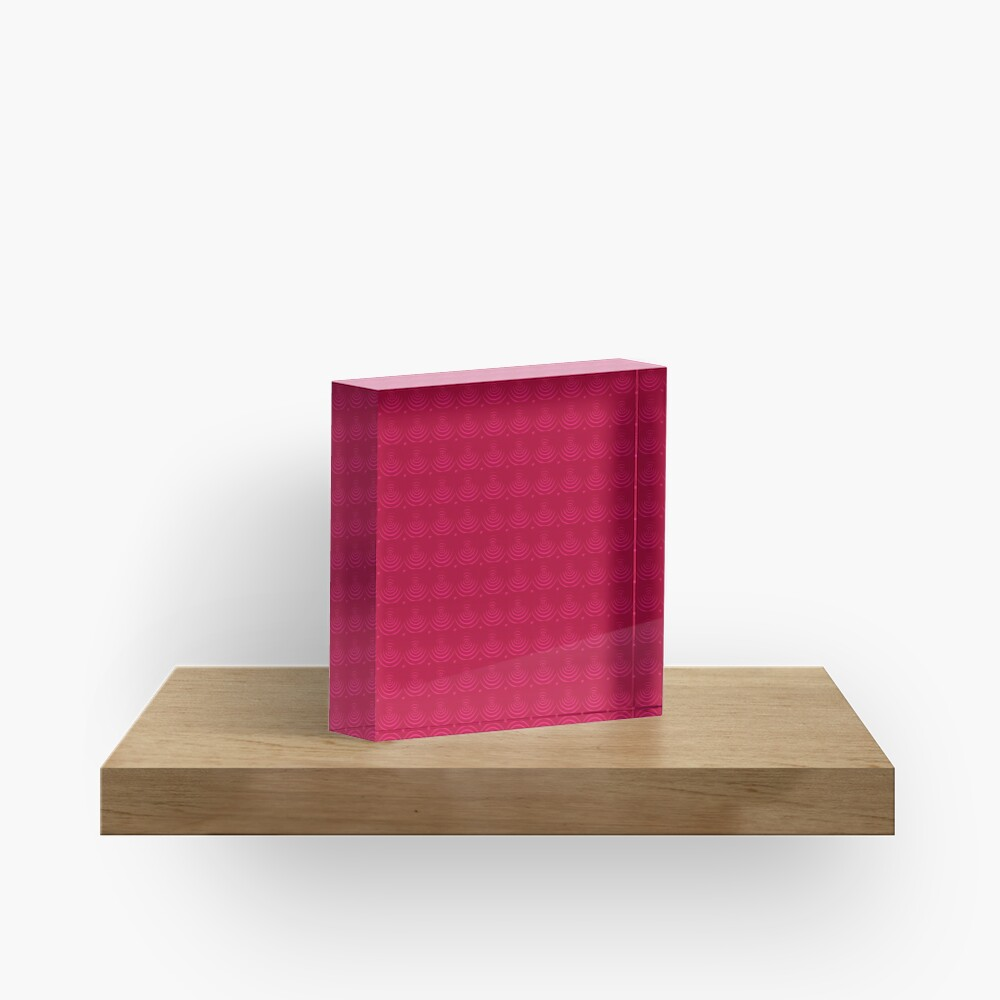 Magenta Red Acrylic Block