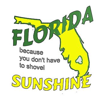 Florida because you don't have to shovel sunshine by StudioN