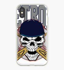 Detroit Baseball Skull iPhone Case