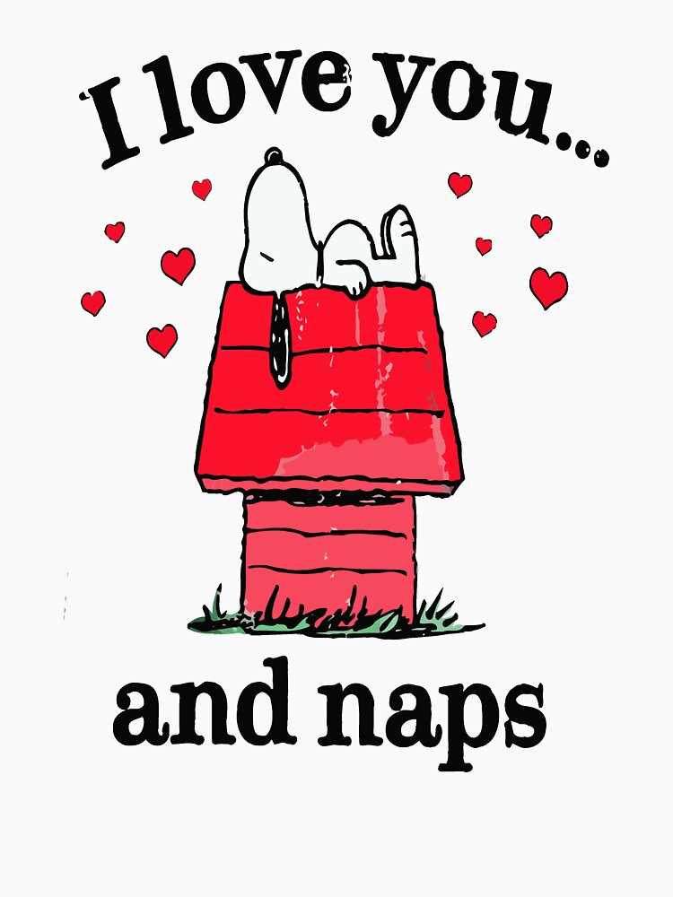 Peanuts Snoopy I Love You and Naps Adult by marymom