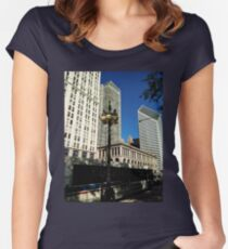 Chicago Michigan Avenue Mag Mile Photo Women's Fitted Scoop T-Shirt