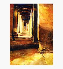 Angkor Wat Hallway- Cambodia Photographic Print