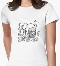 African Animals Women's Fitted T-Shirt