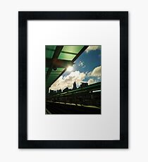 Chicago CTA Green Line Morgan Station Framed Print