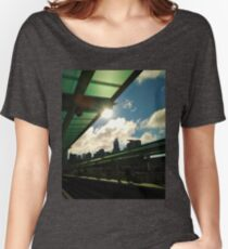 Chicago CTA Green Line Morgan Station Women's Relaxed Fit T-Shirt