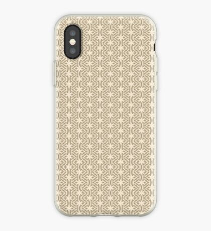 Taupe Snowflake iPhone Case