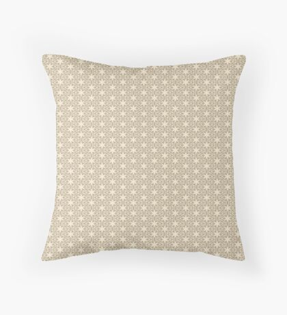 Taupe Snowflake Throw Pillow
