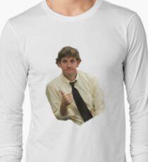 29bd8063 jim halpert thumbs up Long Sleeve T-Shirt