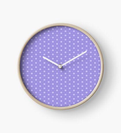 Periwinkle Snowflake Clock