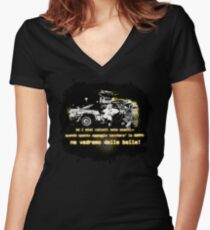 Back to the future ...with quote in italian Women's Fitted V-Neck T-Shirt