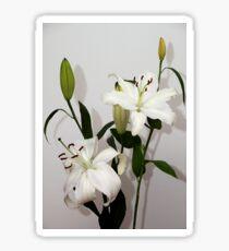 White Lilies Sticker